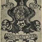 Ex libris - John Maclaren