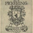 Ex libris - R. Y. Pickering