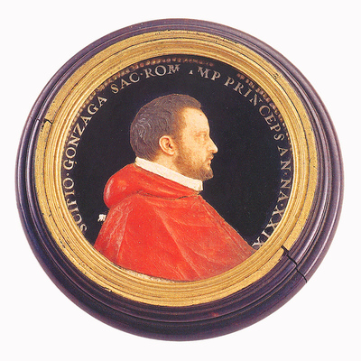 Viaszdombormű - Scipione Gonzaga bíboros portréja
