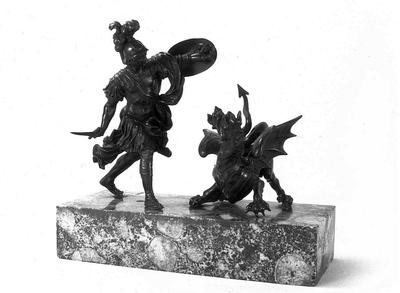 Kisplasztika - Iaszón harca a sárkánnyal