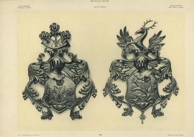 Mintalap - A Blaskovich-család és az Edelsbacher bárók címere