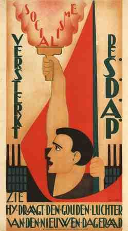 Versterkt de SDAP Socialisme 1 mei Zie hij draagt den gouden luchter van den nieuwen dageraad