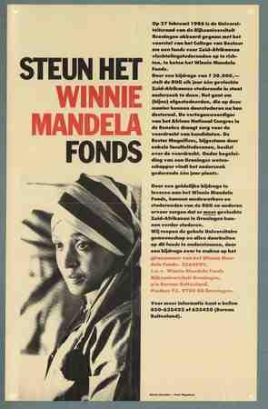 Steunt het Winnie Mandela fonds