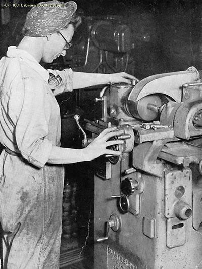 Image from object titled Women war worker in munitions industry, 1943