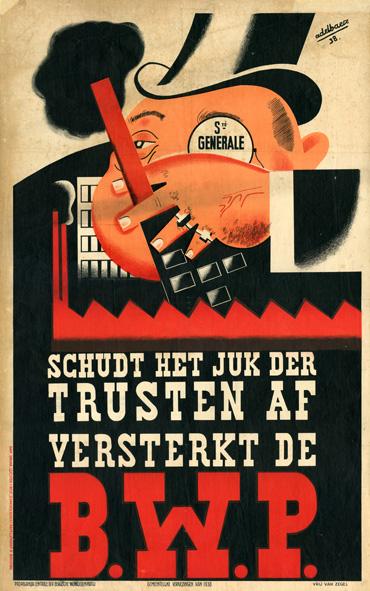 Image from object titled Schudt het juk der trusten af