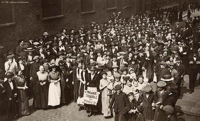 Image from object titled Pinks' Jam Factory, strikers, Bermondsey, 1911
