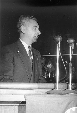 Toespraak van Gust Wallaert op een statutair congres van de CMB