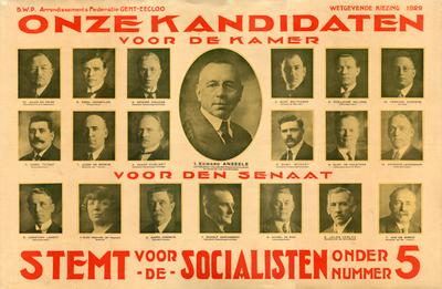 Kandidaten voor Kamer en Senaat
