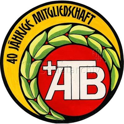 Image from object titled Vorlage für Plakette 40jährige Mitgliedschaft ATB