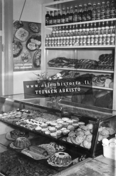 Linnanpellon myymälän ruokaosasto