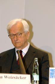Porträt Bundespräsident a.D. Richard von Weizsäcker