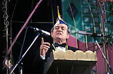 Porträt Ministerpräsident Nordrhein-Westfalen Johannes Rau