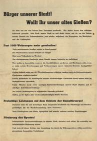 Bürger unserer Stadt! Wollt Ihr unser altes Gießen?