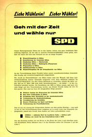 Liebe Wählerin! Lieber Wähler! Geh mit der Zeit und wähle nur SPD