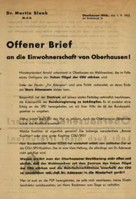 Offener Brief an die Einwohnerschaft von Oberhausen!