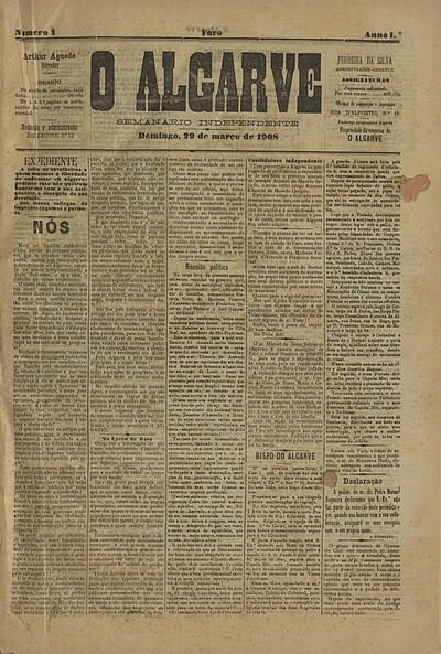 Image from object titled O Algarve: semanário independente