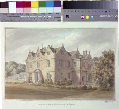 signed watercolour of Boyton House, from SE, 1808, by John Buckler