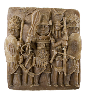 Image from object titled plaque; casting; stage of manufacture