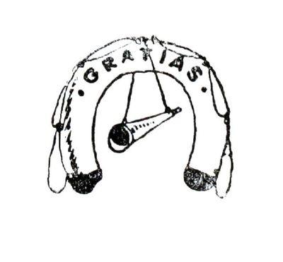 """Dit is een boekillustratie van Peter Spier in het boek van Piet Bakker """"Logboek van de Gratias"""". Hij staat afgedrukt op de pagina 126 van het boek. Voorstellende: een reddingsboei met een scheepstoeter in het midden. Op de..."""