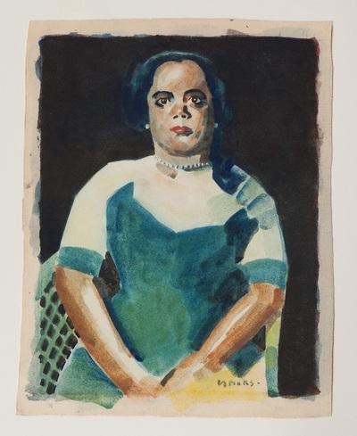 "Een aquarel getiteld: ""Olita""."