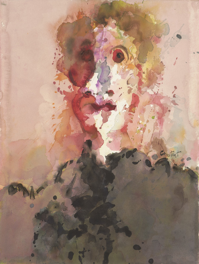 Een aquarel uit 1985 van een portret van Mathilde Visser (1946-1985), een bekende kunstcrititica. Mathilde Visser zag Constant voor het laatst op zijn 65e verjaardag. Kort daarop overleed zij. Constant realiseerde deze...