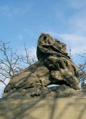 Deze leeuw werd aangekocht door het Uitvoerend Comité voor het vieren van Neêrlands Eeuwfeest. Nadat ernstige schade was geconstateerd werd in 2000 een kopie van het beeld in beton vervaardigd. Het werd herplaatst in...