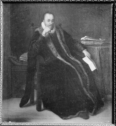 Schildering op paneel met als voorstelling een portret, mogelijk van Willem de Zwijger
