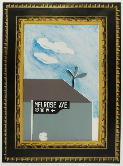 Image from object titled De Britse kunstenaar David Hockney vestigt zich in de jaren zestig in Californië (VS). A Hollywood Collection is één van de hoogtepunten uit zijn grafische oeuvre. Hij stelt met de serie een kant...