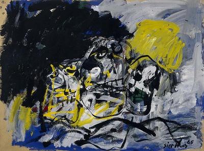 Aangestoken door de Amerikaanse actionpainters, verlaat Sierhuis in 1959 zijn figuratieve werkwijze en begint abstract te schilderen. Zijn schilderijen zijn opgebouwd uit grote verfmassa's. In snelle korte toetsen...