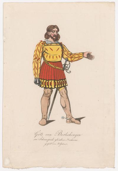 Image from object titled Karl Franz Grüner; Verweis auf Stücktitel: Götz von Berlichingen