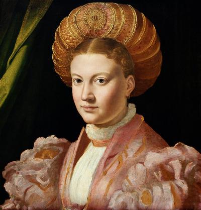 Image from object titled Bildnis einer jungen Dame