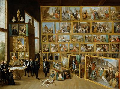 Image from object titled Erzherzog Leopold Wilhelm in seiner Gemäldegalerie