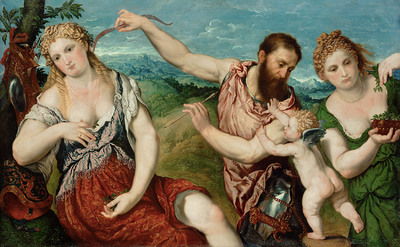 Image from object titled Allegorie (Mars, Venus, Flora und Cupido)