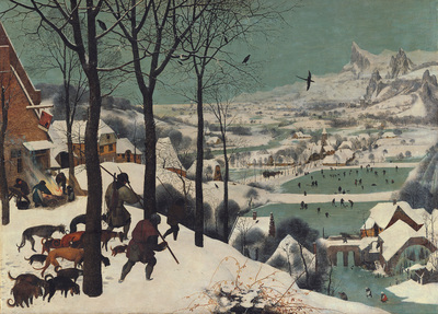 Image from object titled Jäger im Schnee (Winter)