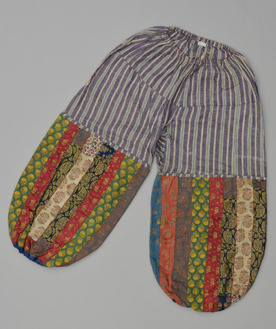 Image from object titled Embroidered Zoroastrian woman's trousers