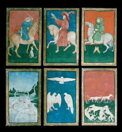 """Image from object titled 54 Spielkarten des """"Ambraser Hofjagdspieles"""""""