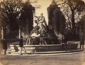 Fontana con il Genio di Palermo. Opera di Ignazio Marabitti collocata nel parco di Villa Giulia a Palermo