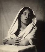 Ritratto di giovane donna in vesti di Madonna