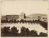 Veduta di piazza della Vittoria a Palermo prima che fosse quasi interamente occupata dalla Villa Bonanno eretta nel 1905