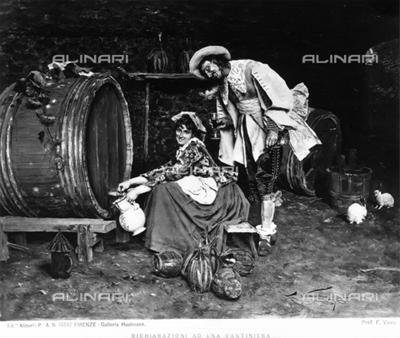 """""""Dichiarazioni ad una cantiniera"""" or Declarations to a Bar Maid, by Francesco Vinea"""