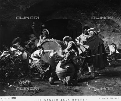 """""""Il saggio alla botte"""" or The Wise Man at the Wine Cask, by Francesco Vinea"""
