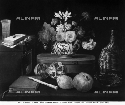 Still Life: the five senses, work by Jacques Linard, preserved in a private collection in Paris