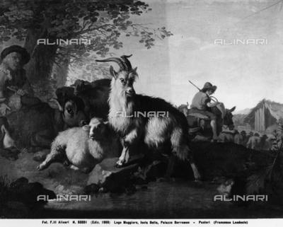 Shepherds: work of Francesco Londonio at Borromeo Palace on Bella Island, Lake Maggiore