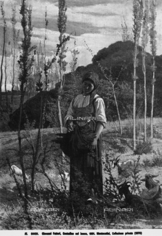 Peasant Woman in the Woods, by Giovanni Fattori, displayed at the Micchiaioli exhibition, held in Florence in 1976, part of a private collection from Montecatini
