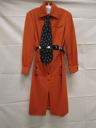 Robe-manteau van oranje gemengde katoen