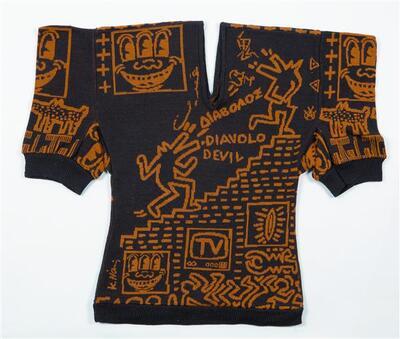 Trui van bruin wollen tricot