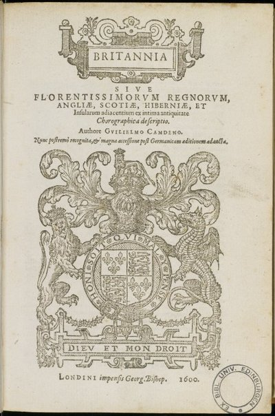 Camdeni Britannia, 1600