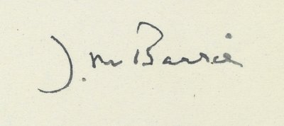 Sir J.M. Barrie Letters