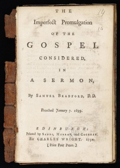 Imperfect Promulgation of the Gospel