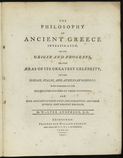 The Philosophy of Ancient Greece